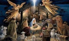 Outdoor Live Nativity Scene Hayrides