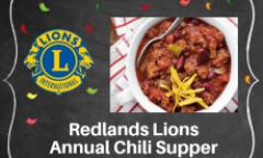 Redlands Lions Club Annual Chili Supper & Cake Wheel Raffle