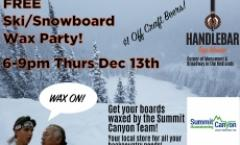 Free Ski/Snowboard Wax Party!