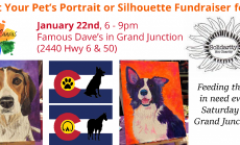 Paint Your Pets Portrait or Silhouette on the Flag Fundraiser for Solidarity Not Charity