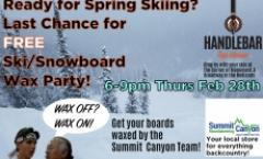 Free Ski/Snowboard Wax Party